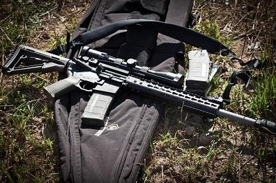 AR 15 Tactical Rifle with Optics