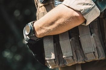 Man Wearing Tactical Vest