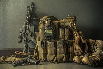 Tactical Vest With AR-15