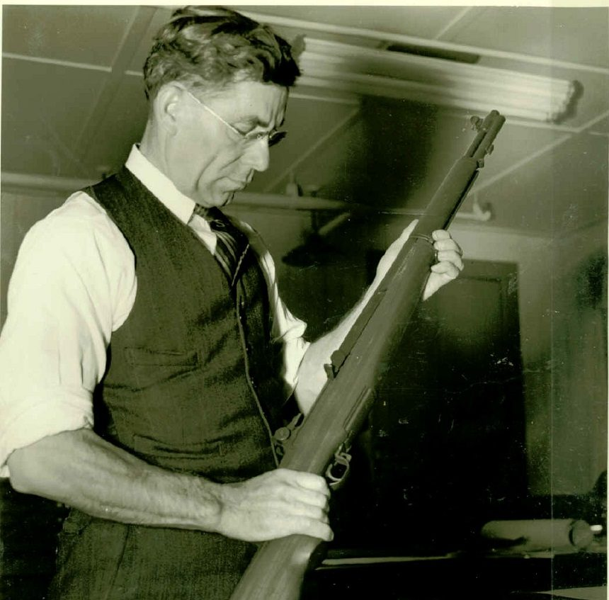 John C Garand Handling The M1 Garand