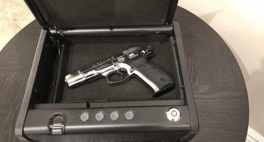 Smaller Gun Safe With Pistol