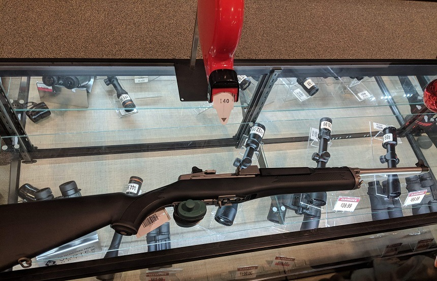 Ruger Mini 14 on Counter
