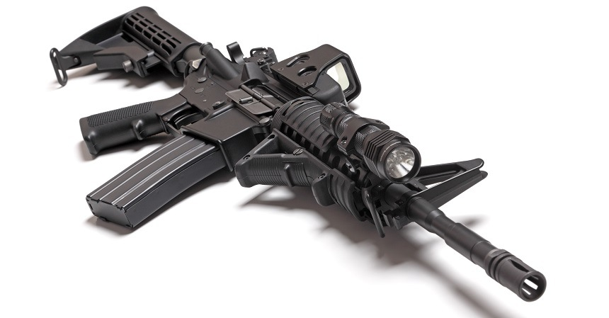 AR 15 With Light