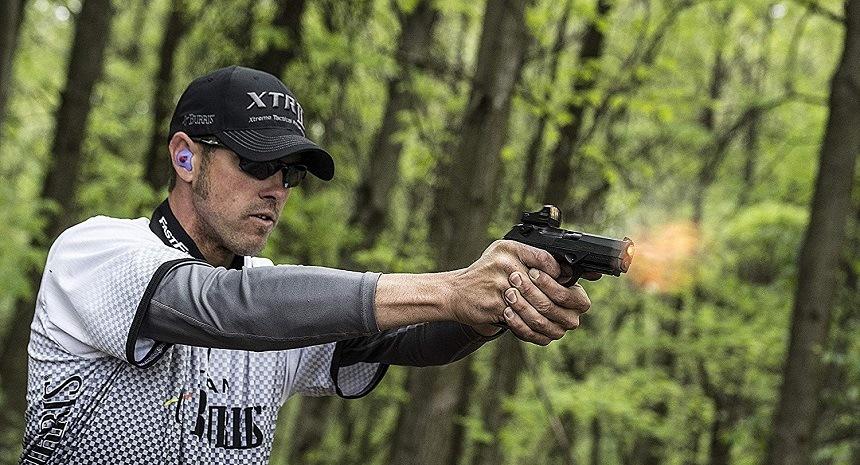 Firing Pistol Red Dots