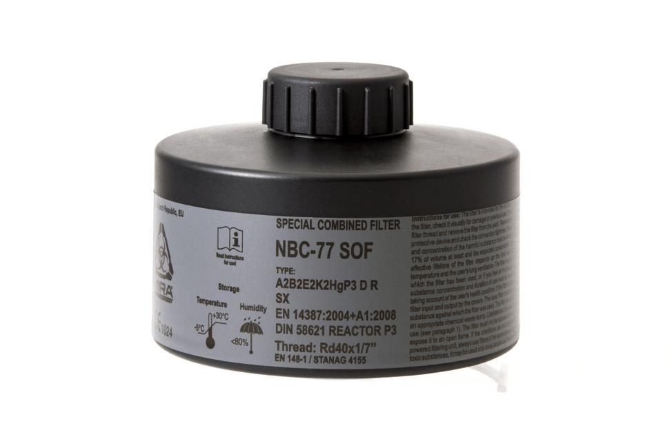 gas mask filter nbc-77 sof mira
