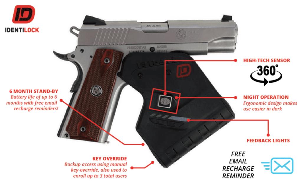 how identilock gun lock works