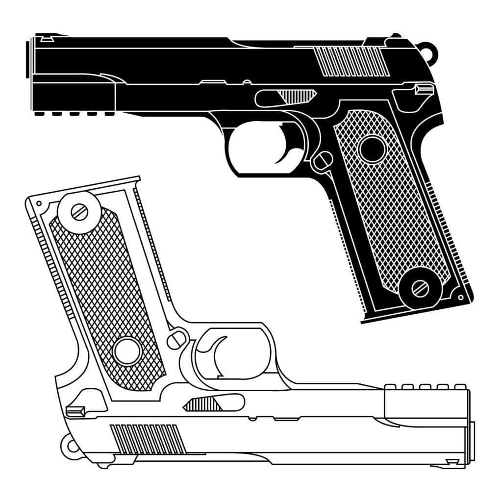 Affordable 9mm Pistol Outline