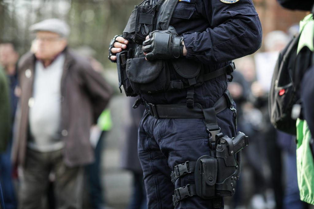 Police 9mm handgun